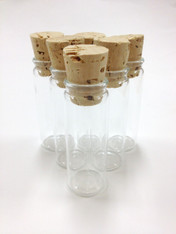 Large Clear Glass Vials with Corks - Honey Vials, Favors or Packaging