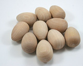 Unfinished Wooden Mini Egg - Birch - 7/8 inch  Set of 25