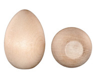 Unfinished Wooden Easter Egg - Birch - 2 1/2  inch  Set of 3 eggs