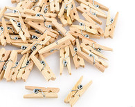 Unfinished Wooden Mini Clothespins - Natural - 1 inch