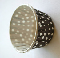 Polka Dot Nut or Portion Paper Cups - Brown