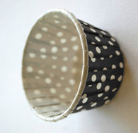 Polka Dot Nut or Portion Paper Cups - Black