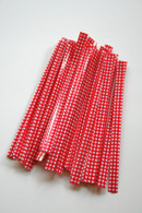 Twist Ties - Red Gingham