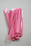 Twist Ties - Pink Gingham