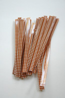 Twist Ties - Brown Gingham