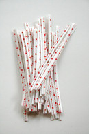 Twist Ties - Tiny Red Heart on White Paper