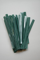 Twist Ties - Dark Green Gingham