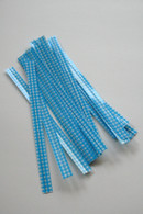 Twist Ties - Blue Gingham