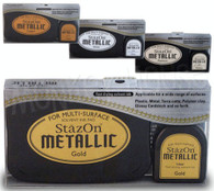 Tsukineko Staz-on Solvent Based Metallic Ink Pad