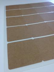 Square Brown Kraft Labels - 2 Inch Square Shape Sheet Labels for Laserjet or Inkjet Printing