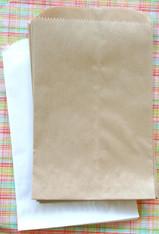 Brown Kraft Flat Merchandise Bags -10 x 13 Inches