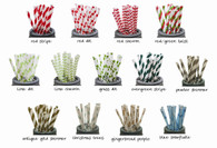 A Holiday Assortment of Paper Drinking Straws - Mix & Match - FREE SHIPPING