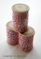 Packaging Twine - Red - 30 Yards on Wooden Spool
