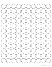 Template - 3/4 Inch Round Labels
