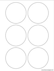 Template - 3 1/4 Inch Round Labels