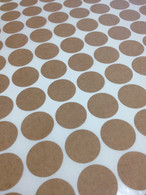 Round Brown Kraft Labels - 3/4 Inch Round Sheet Labels for Laserjet or Inkjet Printing