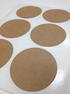 Round Brown Kraft Labels - 3 1/4 Inch Round Sheet Labels for Laserjet or Inkjet Printing