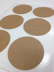 Round Brown Kraft Labels - 3 1/4 Inch Round Sheet Labels for Laserjet or Inkjet Printing