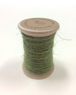 Burlap Twine - 30 Yards on Wooden Spool - Sage Color Jute