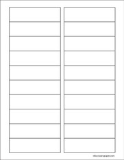 Template - 3 1/2 x 1 Inch Rectangle Labels