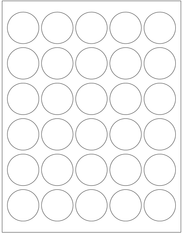 Template - 1.5 Inch Round Labels