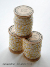 Packaging Twine - Lemon Yellow - 30 Yards on Wooden Spool