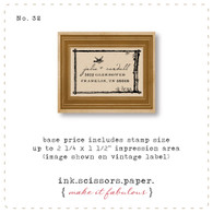 Customized Red Rubber Wood Stamp - Bird in Flight