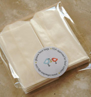 Glassine Bags - Flat - Extra Small2 inch x 3.5 inch - Business Card Size
