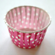 Polka Dot Nut or Portion Paper Cups - Fuschia and White