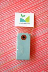 Mini Shipping Paper Tags - 1.375 x 2.75 - Light Blue