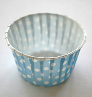 Polka Dot Nut or Portion Paper Cups - Blue and White