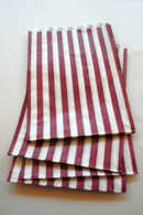 Traditional Sweet Shop Candy Stripe Paper Bag - Purple Stripes