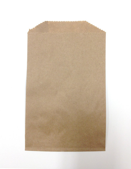 Set Of 100 Brown Kraft Food Safe Flat Merchandise Bags
