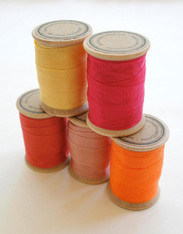 Rayon Binding Tape Color Pack - 10 Yds Each of Five Colors - 50 Yards on Wooden Spools - Packaging and Gift Ribbon
