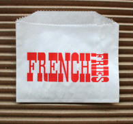 French Fries Bags - Vintage Style Red/White