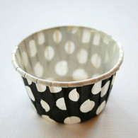 Polka Dot Nut or Portion Paper Cups - Black and White