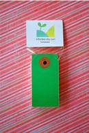Mini Shipping Paper Tags - 1.375 x 2.75 - Dark Green