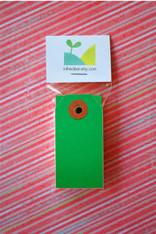 Mini Shipping Paper Tags - 1.375 x 2.75 - Dark Green