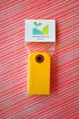 Mini Shipping Paper Tags - 1.375 x 2.75 -Yellow