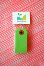 Mini Shipping Paper Tags - 1.375 x 2.75 - Green