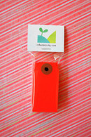 Mini Shipping Paper Tags - 1.375 x 2.75 - Red