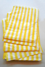 Traditional Sweet Shop Candy Stripe Paper Bag - Yellow Stripes