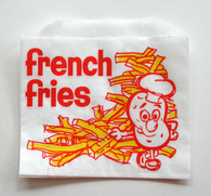 French Fries Bags - Vintage Yellow with Red