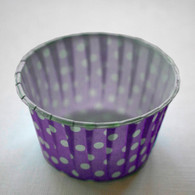 Polka Dot Nut or Portion Paper Cups - Purple