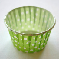 Polka Dot Nut or Portion Paper Cups - Lime Green
