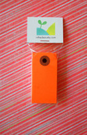 Mini Shipping Paper Tags - 1.375 x 2.75 - Orange