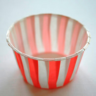 Striped Nut or Portion Paper Cups - Red