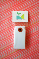 Mini Shipping Paper Tags - 1.375 x 2.75 - White