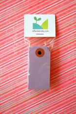Mini Shipping Paper Tags - 1.375 x 2.75 - Plum Purple