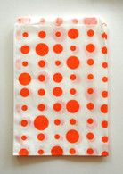 Traditional Sweet Shop Random Dots Paper Bag - Orange Dots